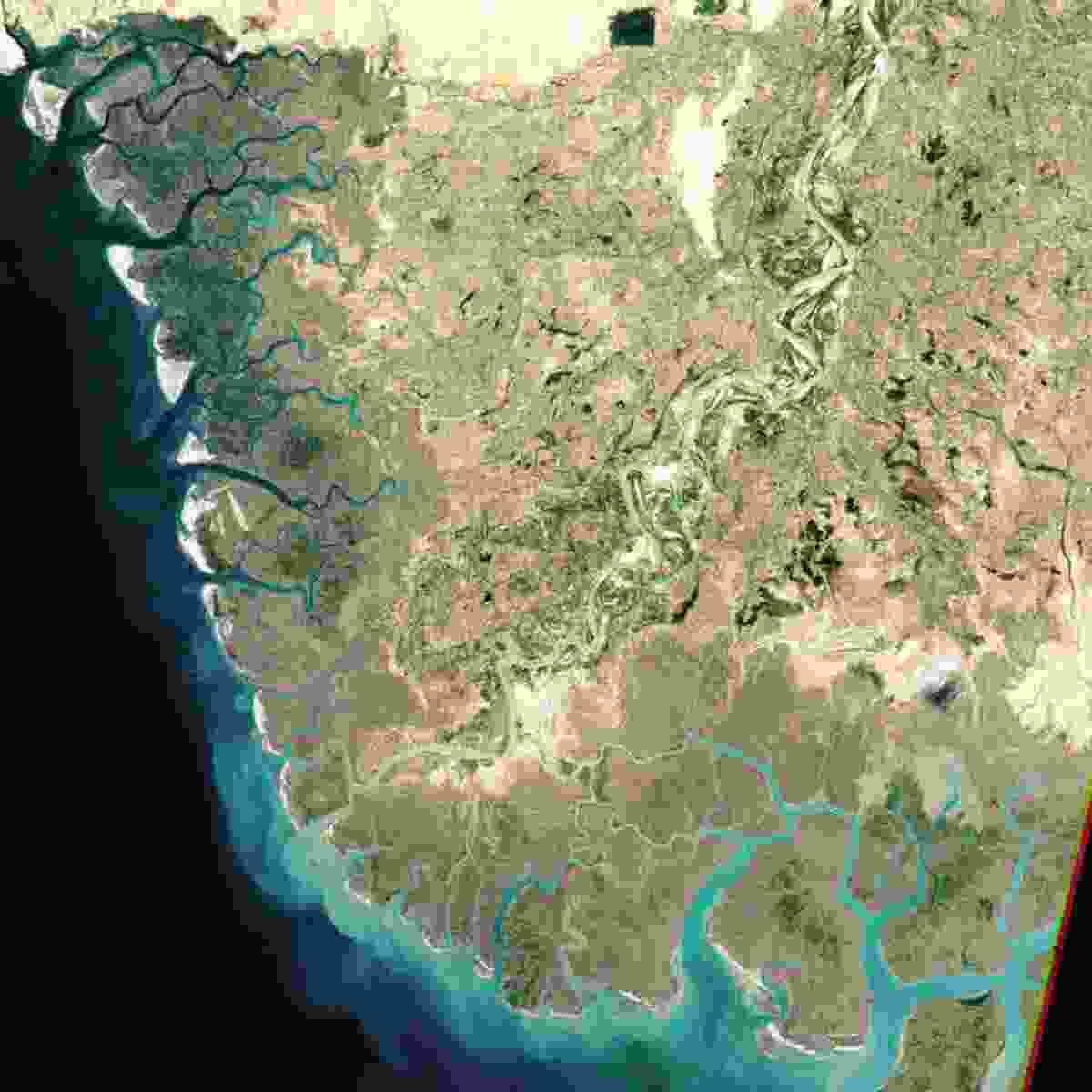 Indus River Delta, Pakistan (NASA Goddard Space Flight Centre and U.S. Geological Survey)