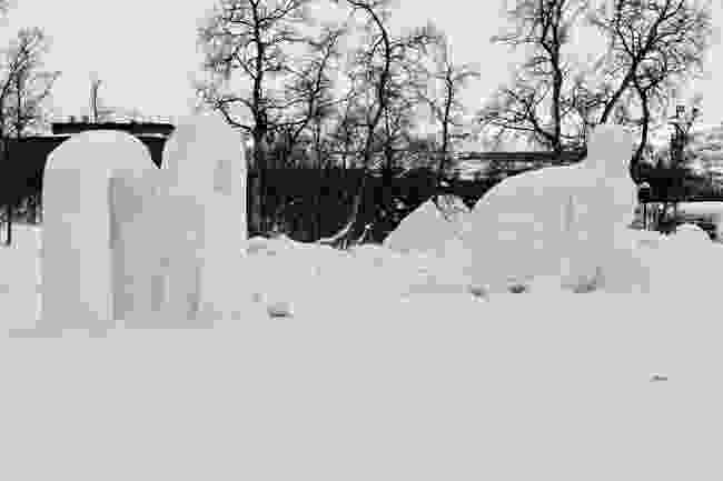 Snow sculptures in Kiruna, Sweden (Shitterstock)