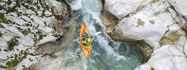 'Solo kayak' through Soca Valley, Triglav National Park, Slovenia (Rachael Tailford)