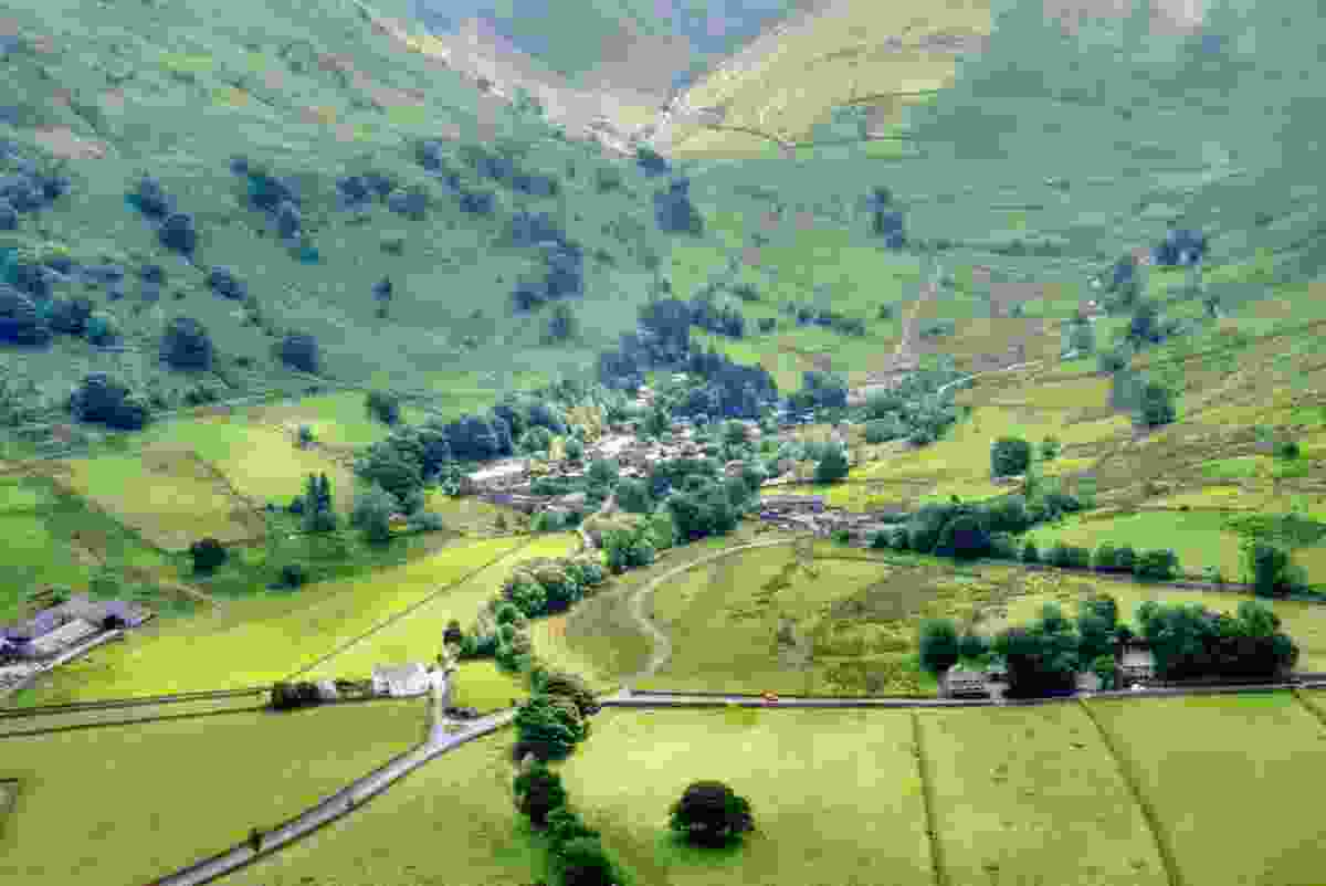 An aerial view of Hartsop, in the Lake District, Cumbria(Dreamstime)