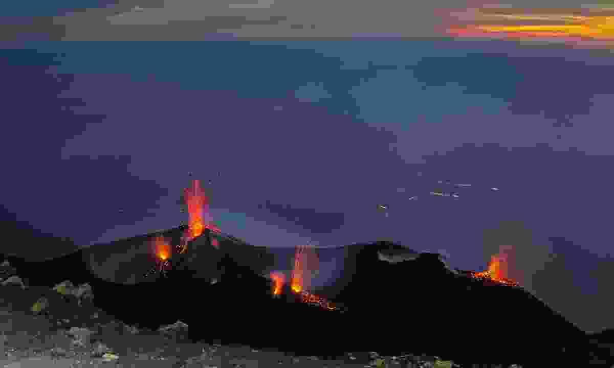 Stromboli at sunset (Dreamstime)