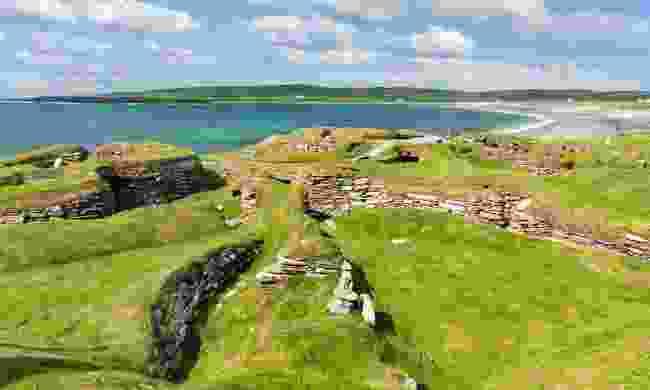 Skara Brae, Orkney Islands (The Atlas of Vanishing Places by Travis Elborough)