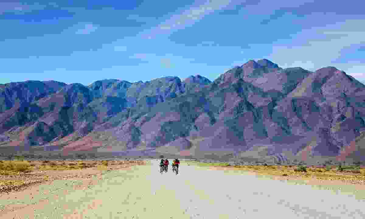 Cycling in Namib-Naukluft National Park, Namibia (Dreamstime)