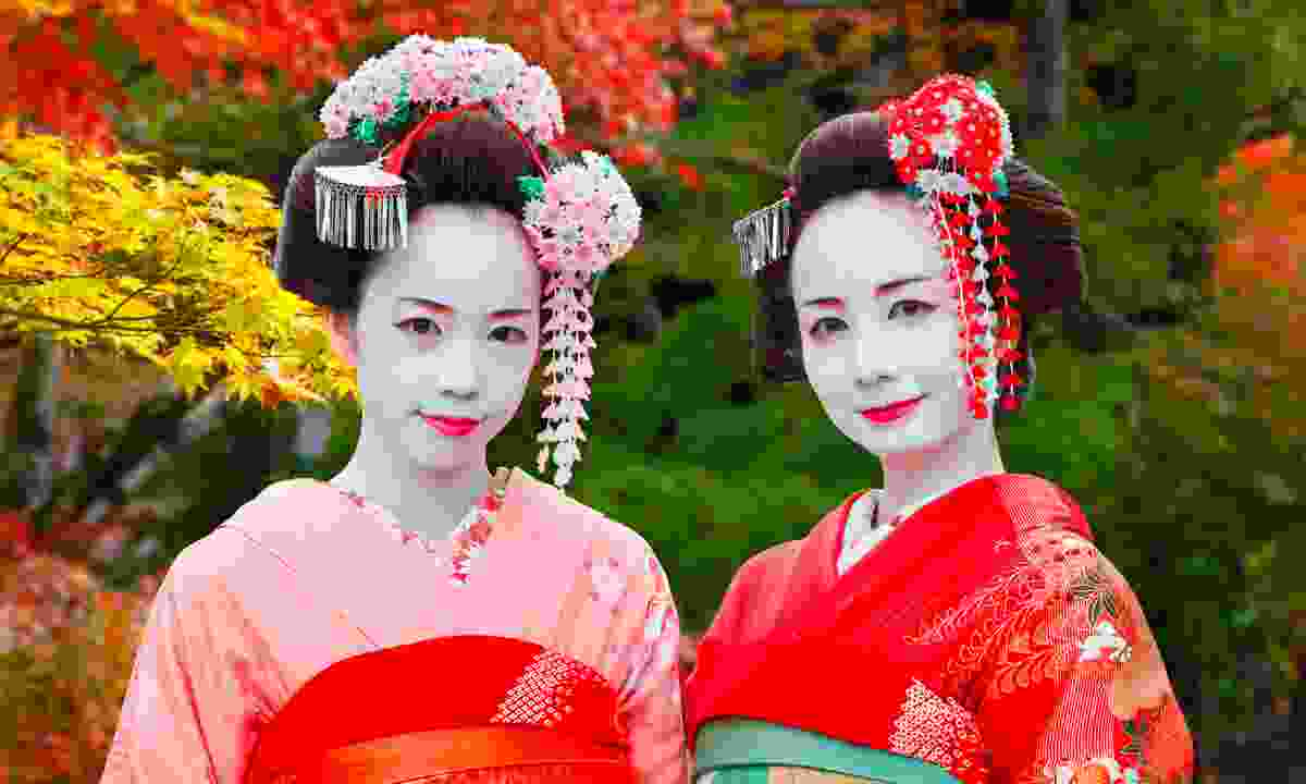 Geishas in Gion district, Kyoto, Japan (Dreamstime)