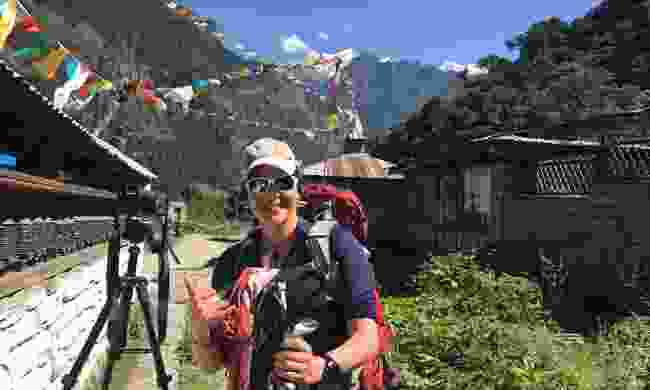 Holly travelling through the Himalayas (Holly Budge)