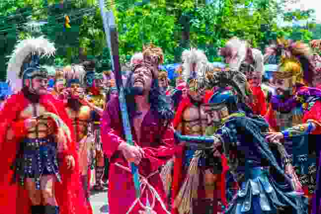 A snapshot of the Moriones Festival procession on Marinduque Island, Philippines (Shutterstock)