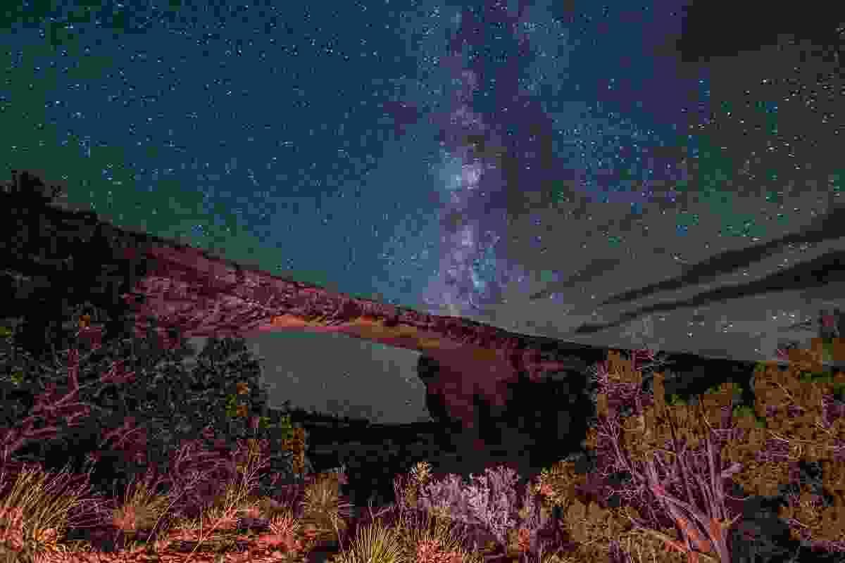 Owachomo Bridge, Utah at night makes for incredible stargazing (Shutterstock)