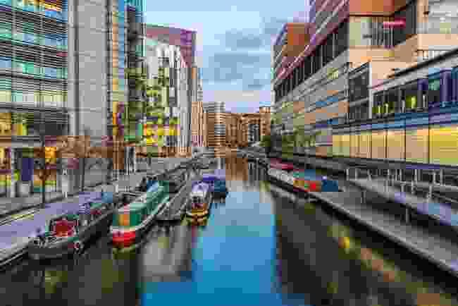 Paddington Basin's canal (Shutterstock)