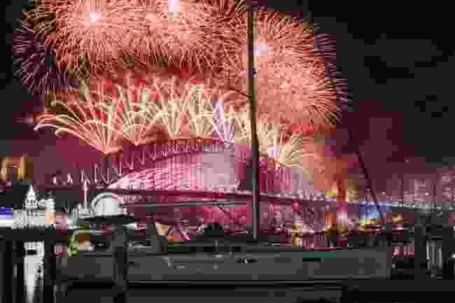 New Year's Eve fireworks in Sydney, Australia (Shutterstock)