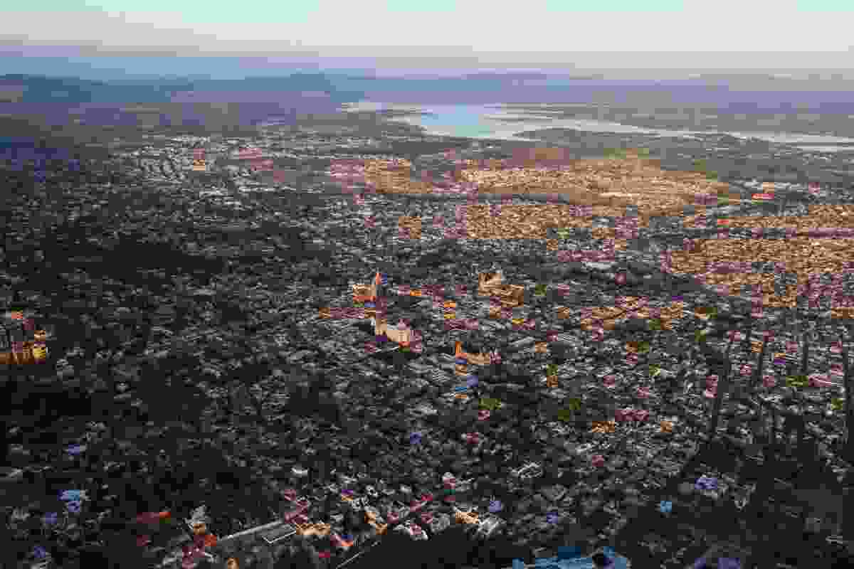 Aerial view of San Miguel de Allende, Mexico (Graeme Green)