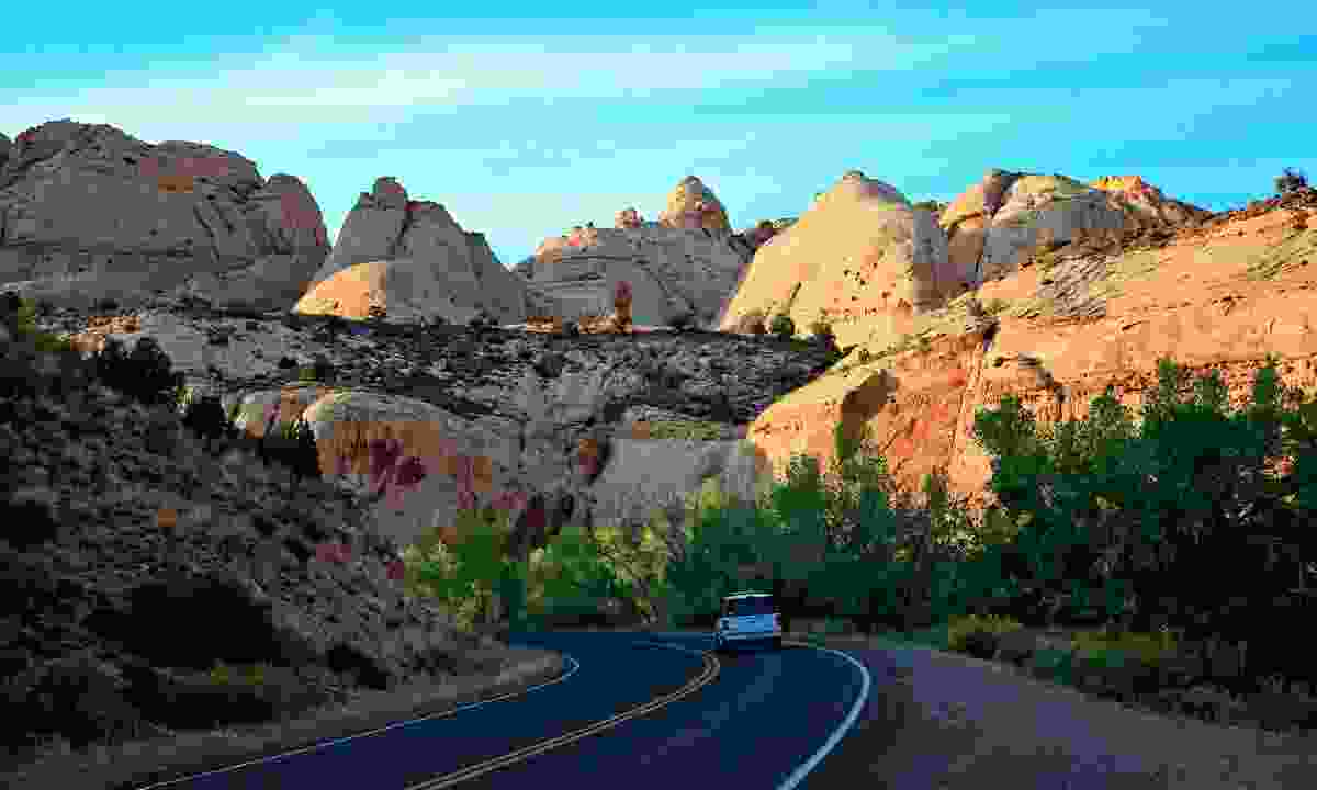 Drive into the iconic Capitol Reef National Park (Steve Greenwood)
