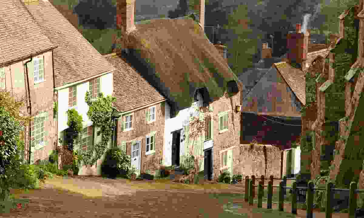 Famous Gold Hill, used in the Hovis advert (Dreamstime)