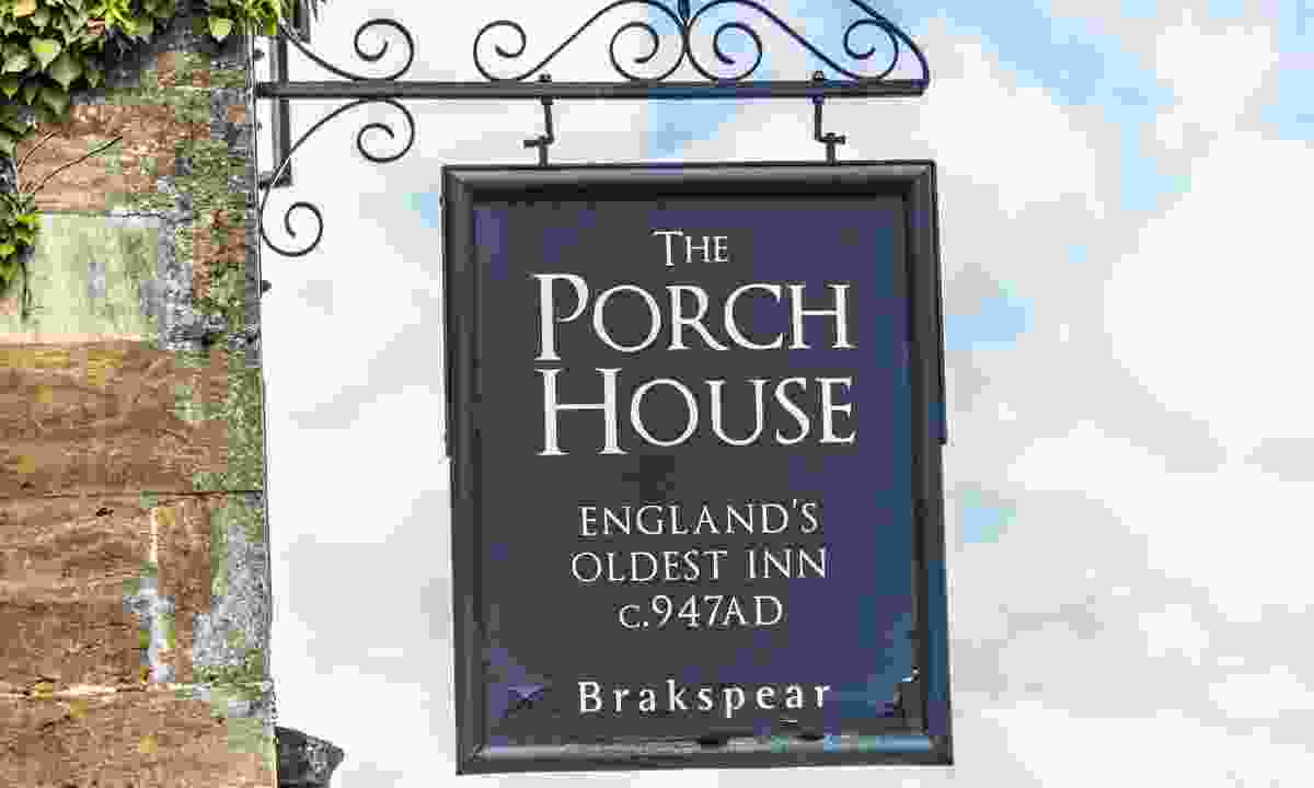 Sign outside the Porch House (Shutterstock)