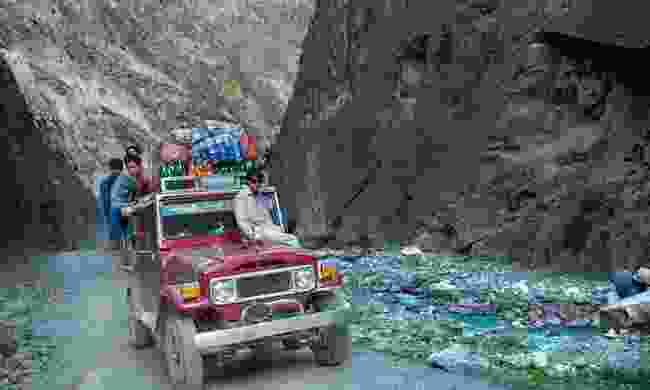 Cargo jeep on the Karakoram Highway (Shutterstock)