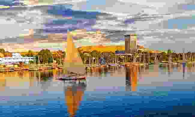 A felucca sailing along the Nile near Luxor (Shutterstock)