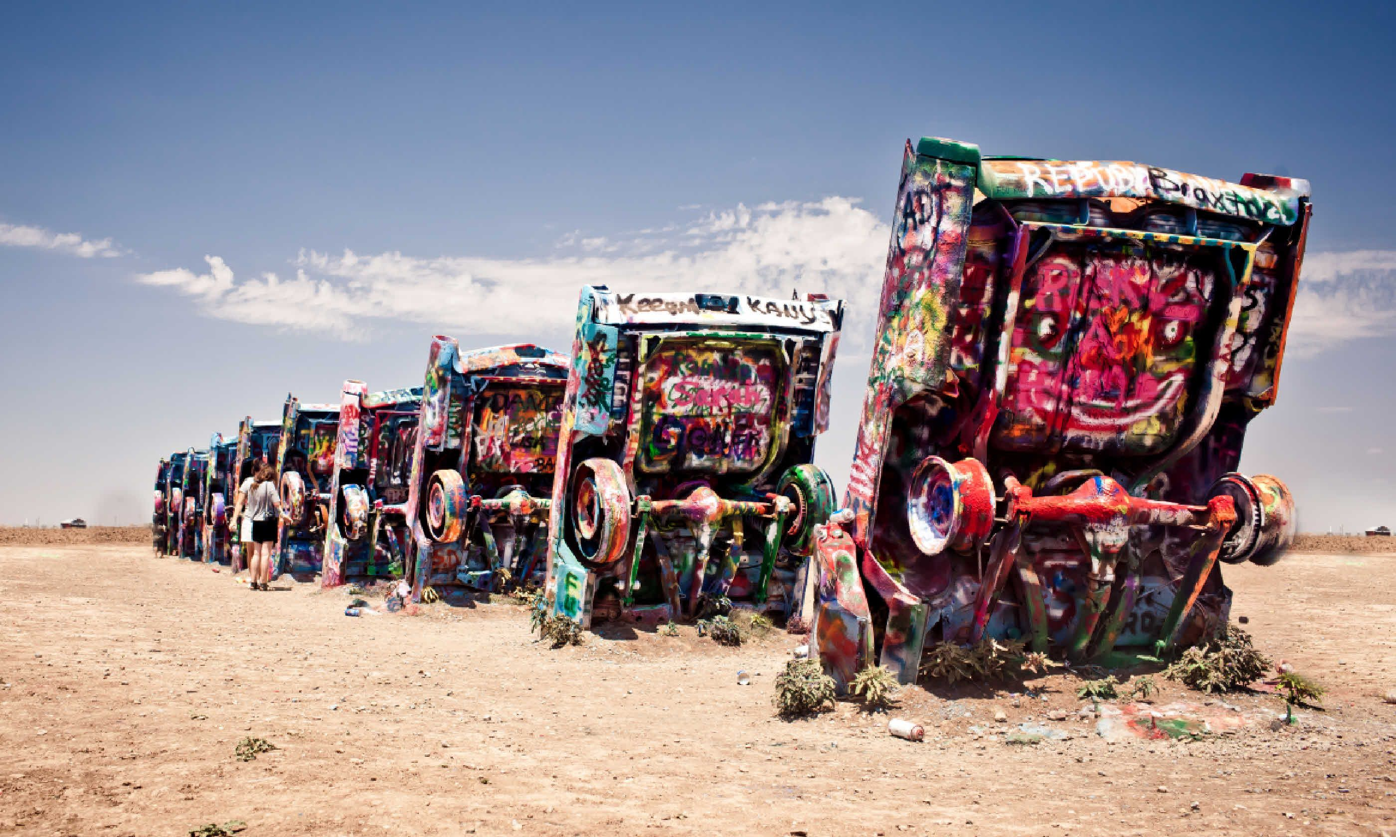 Famous art installation Cadillac Ranch (Shutterstock)