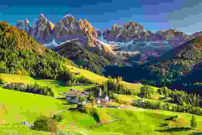 Santa Maddalena village in the Dolomite mountains (Shutterstock)