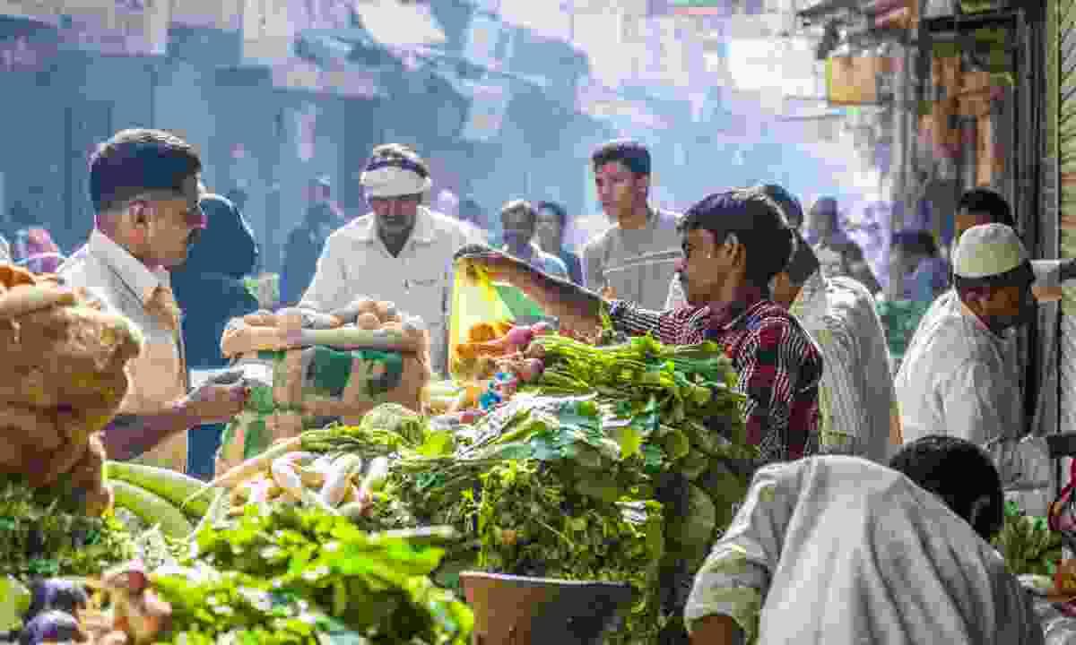 Delhi food market, India (Shutterstock)