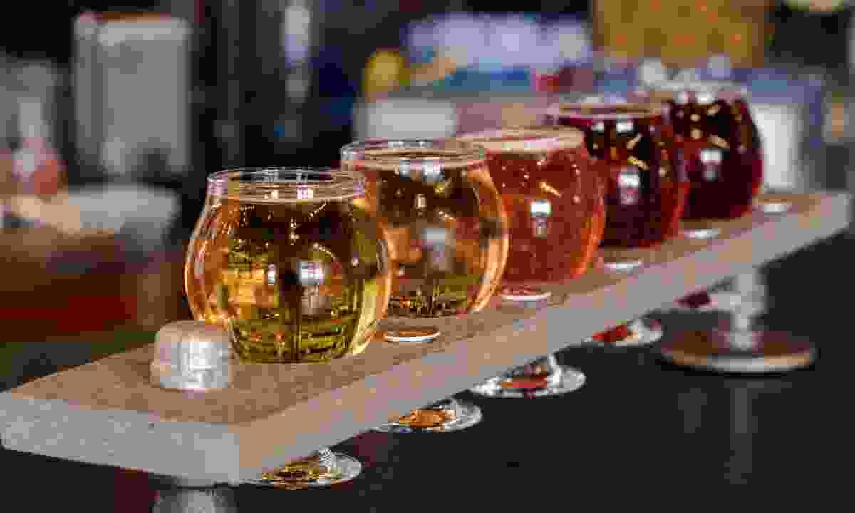 Bridge Cider works sample tray (MtHoodTerritory.com)