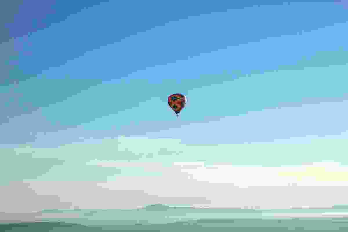 A hot air balloon above San Miguel de Allende, Mexico (Graeme Green)