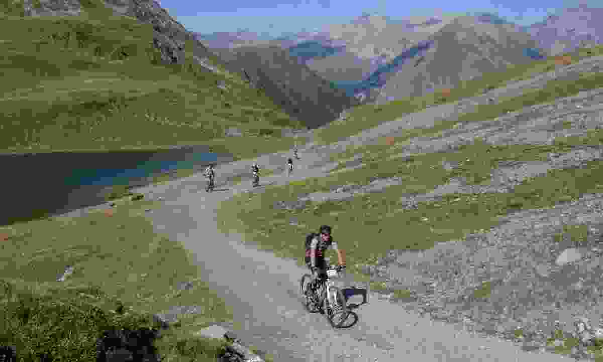 Cycling in Graubunden, Switzerland (Dreamstime)