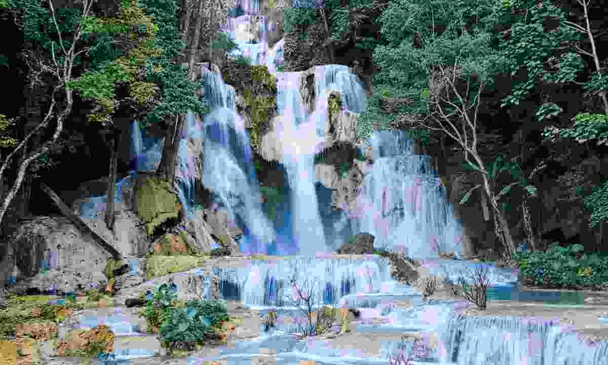 The Kuang Si Falls near Luang Prabang (Dreamstime)