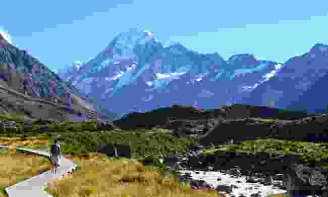 The road to Mt Cook (Dreamstime)