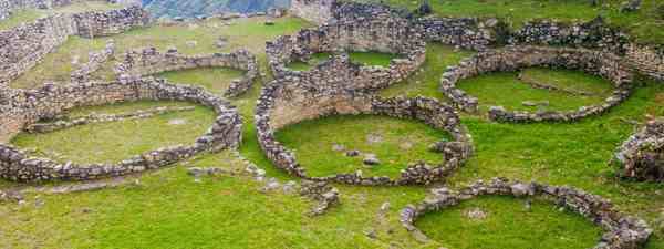 The remnants of circular homes in the lost city of Kuélap, Peru (Shutterstock)