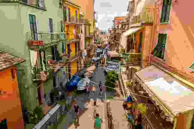 A street in the fishing village of Manarola, Cinque Terre, Italy (Shutterstock)