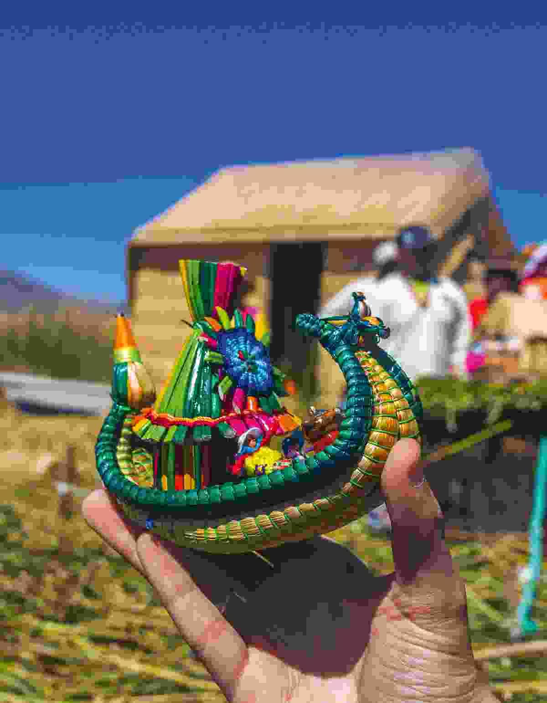 Souvenir reed boat on Lake Titicaca (Shutterstock)