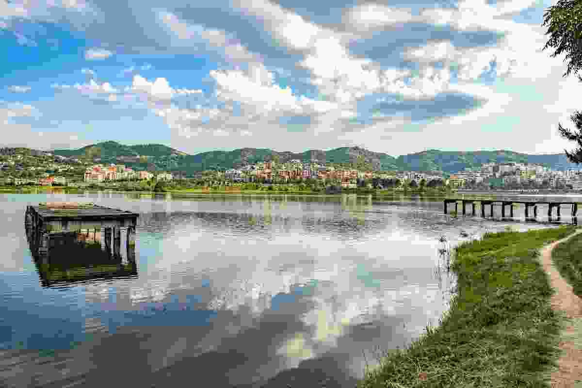 The artificial lake in Grand Park, Tirana, Albania (Shutterstock)