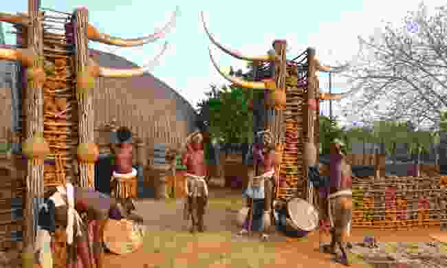 Zulu warriors, Shakaland, South Africa (Dreamstime)