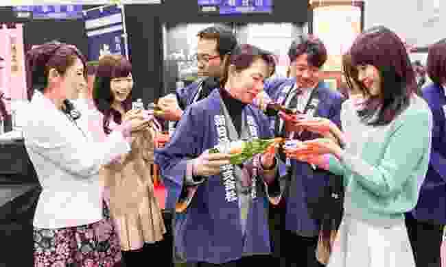 Niigata's Sake no Jin festival (Niigata City Office)