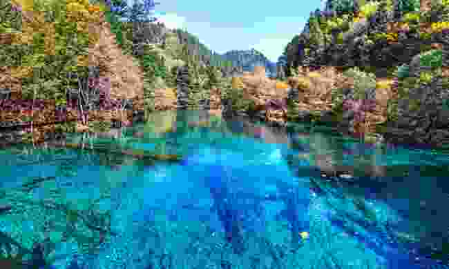 Lake in Jiuzhaigou Valley (Shutterstock.com)