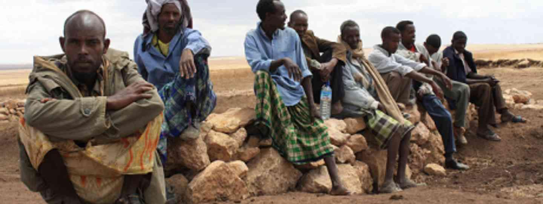 Men in the village of Aynanshahadig (Oxfam East Africa)