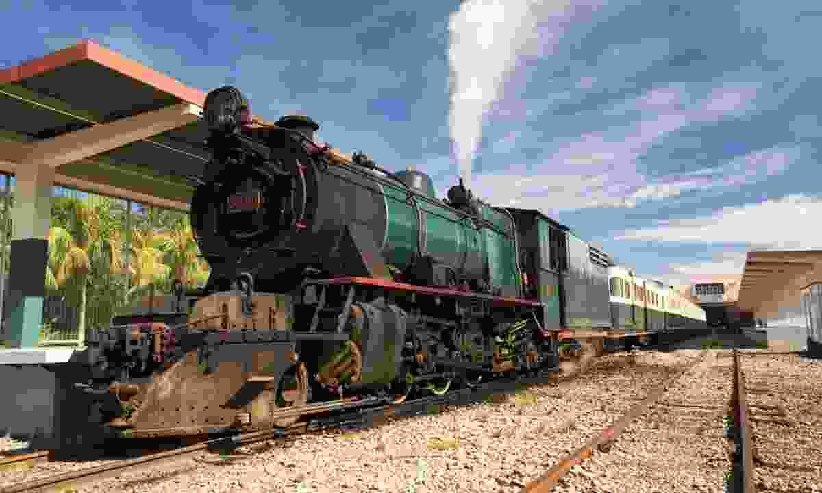 Steam train on the North Borneo Railway (Regent Holidays)