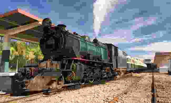 Steam train on the North Borneo Railway (Regent Holidays)