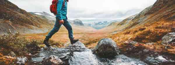 Hiker in Scandinavia (Shutterstock)
