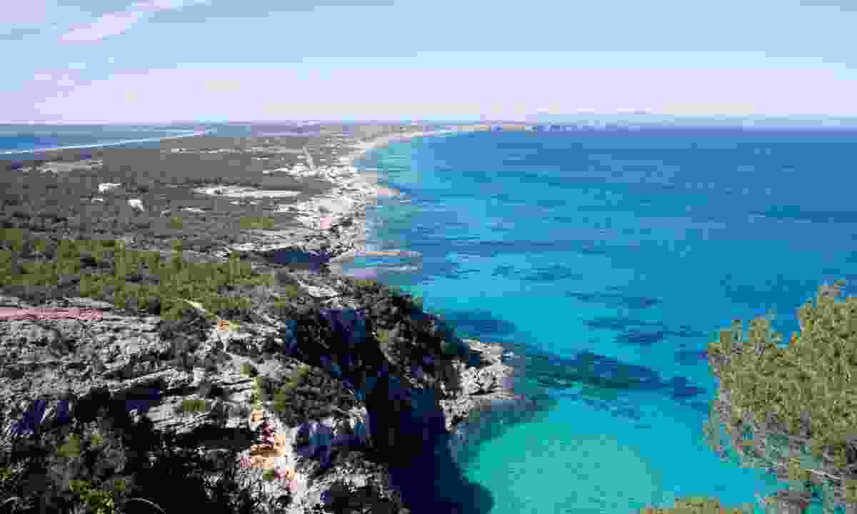 View of Formentera from a high point on the island (Dreamstime)