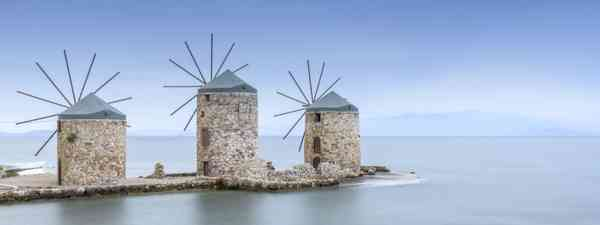 Traditional windmills, Chios (Dreamstime)