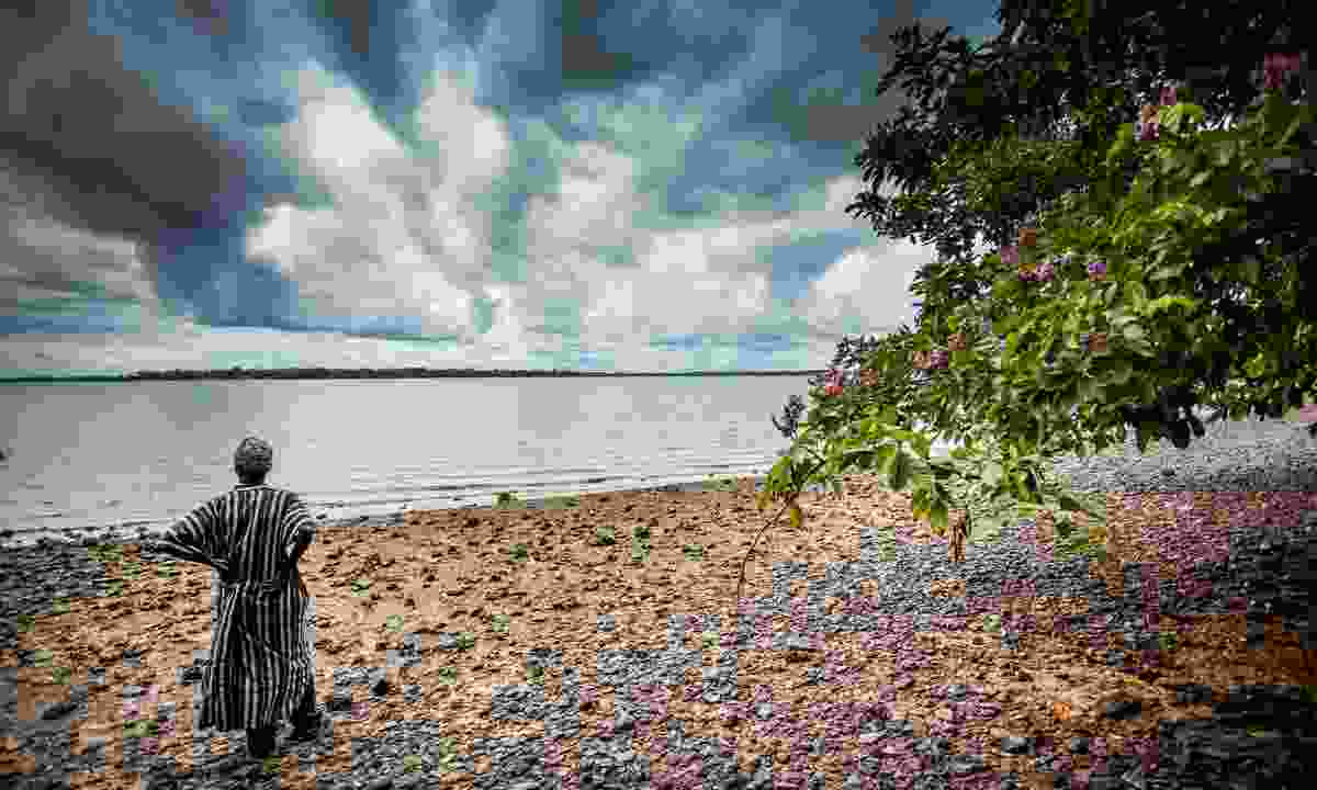 A man standing on Bunce Island, once owned by British slave trading companies (Dreamstime)