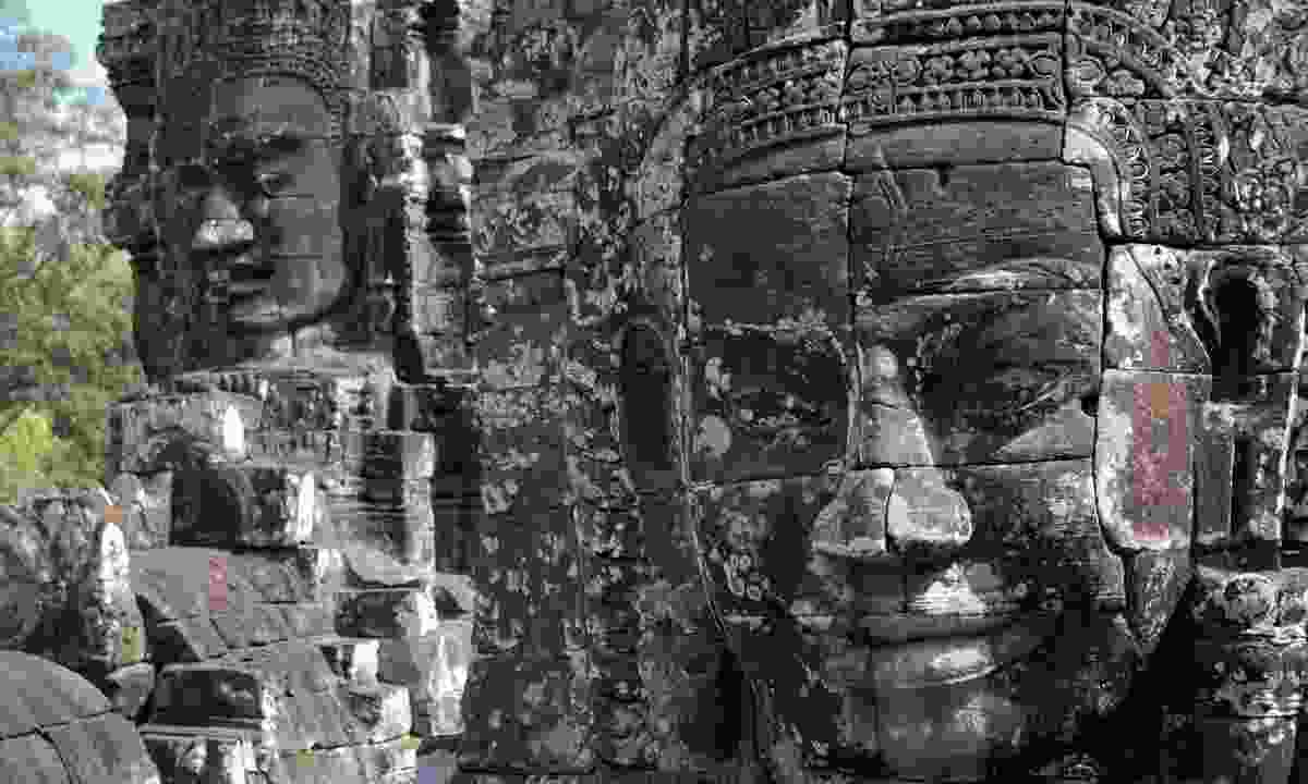 An up-close look at the detail of the brick work at one of the temples of the Angkor complex (Shutterstock)
