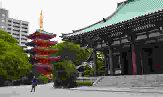 Tojida Temple in Hakata, home to a giant temple building, pagoda and Japan's largest seated Buddha...
