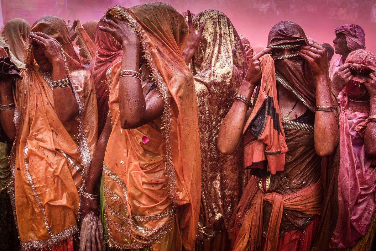 Huranga Holi Festival at Baladev Dauji Temple, Mathura, India (Richard I'Anson)
