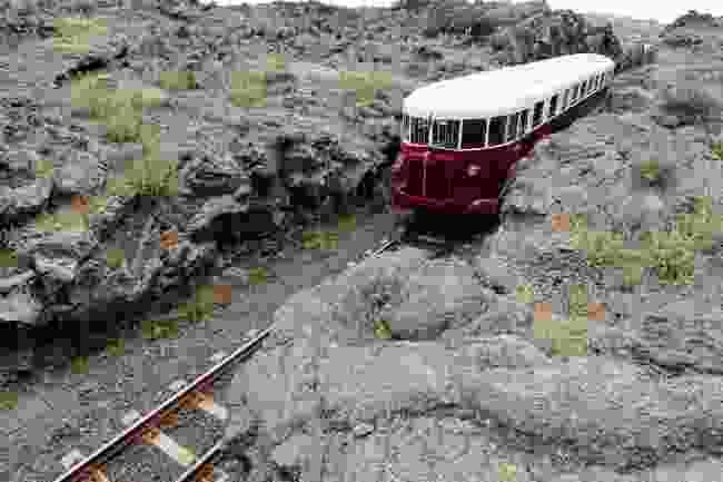 The Circumetnea travelling through lava on Mount Etna (Shutterstock)