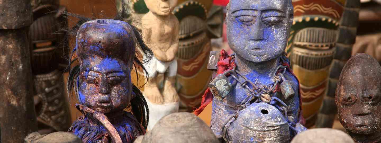Statues at Benin Voodoo Festival (Shutterstock)