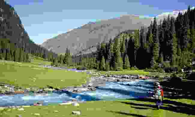 View into Dzheti-Oguz Valley in Kyrgystan (Mark Stratton)