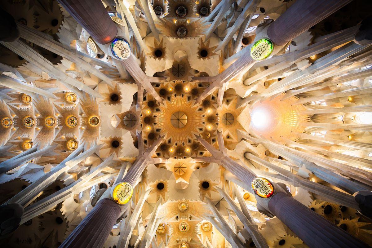Ceiling of Sagrada Familia (Dreamstime)