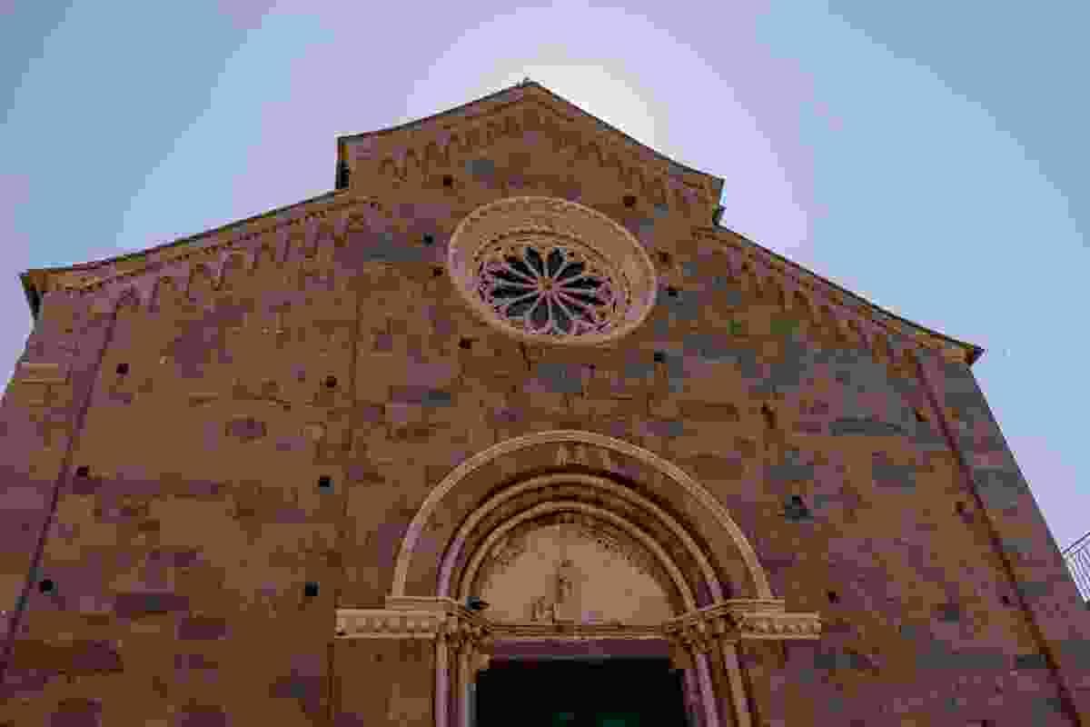 Corniglia's San Pietro monument, Cinque Terre, Italy (Shutterstock)