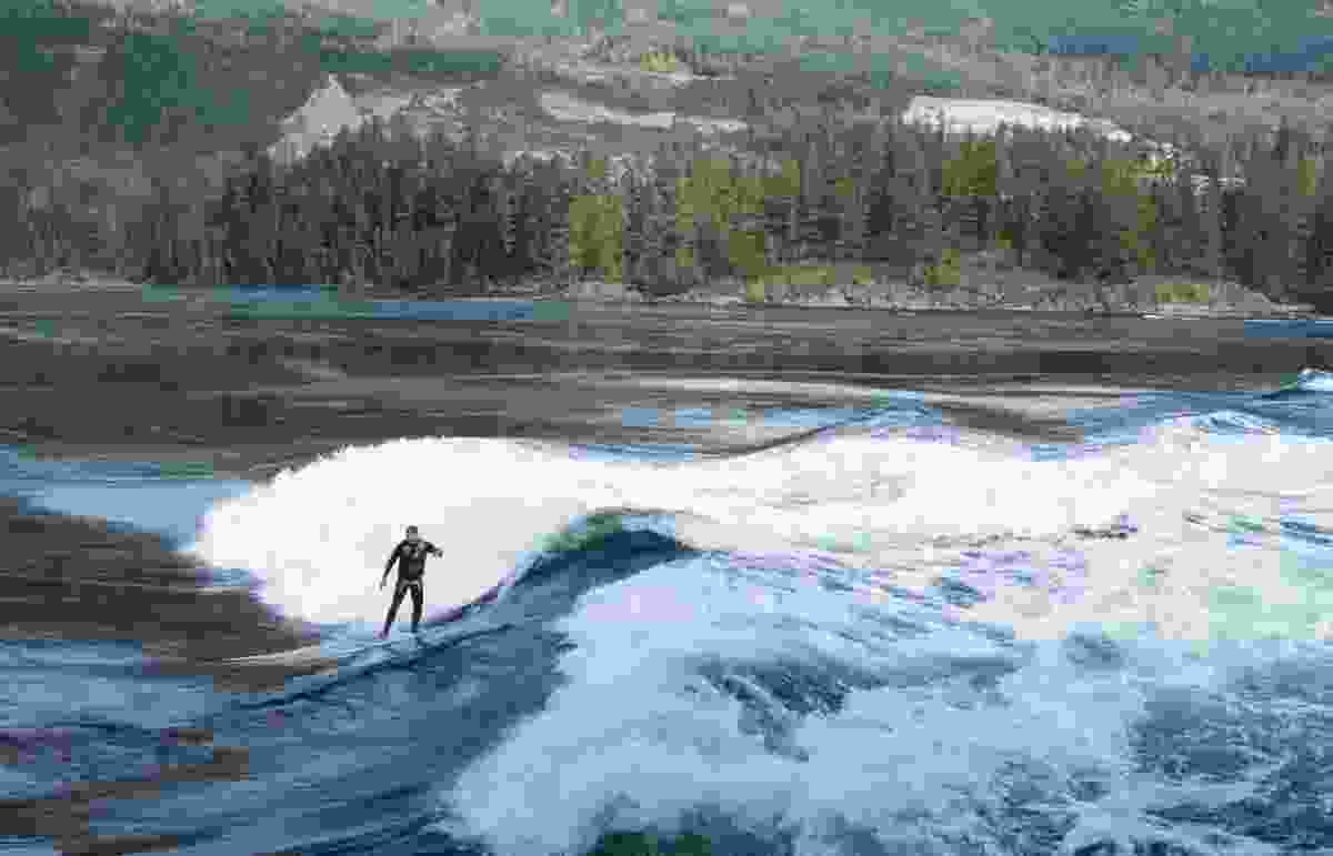 Surfing the incoming tide at the Skookumchuck Narrows (Dreamstime)